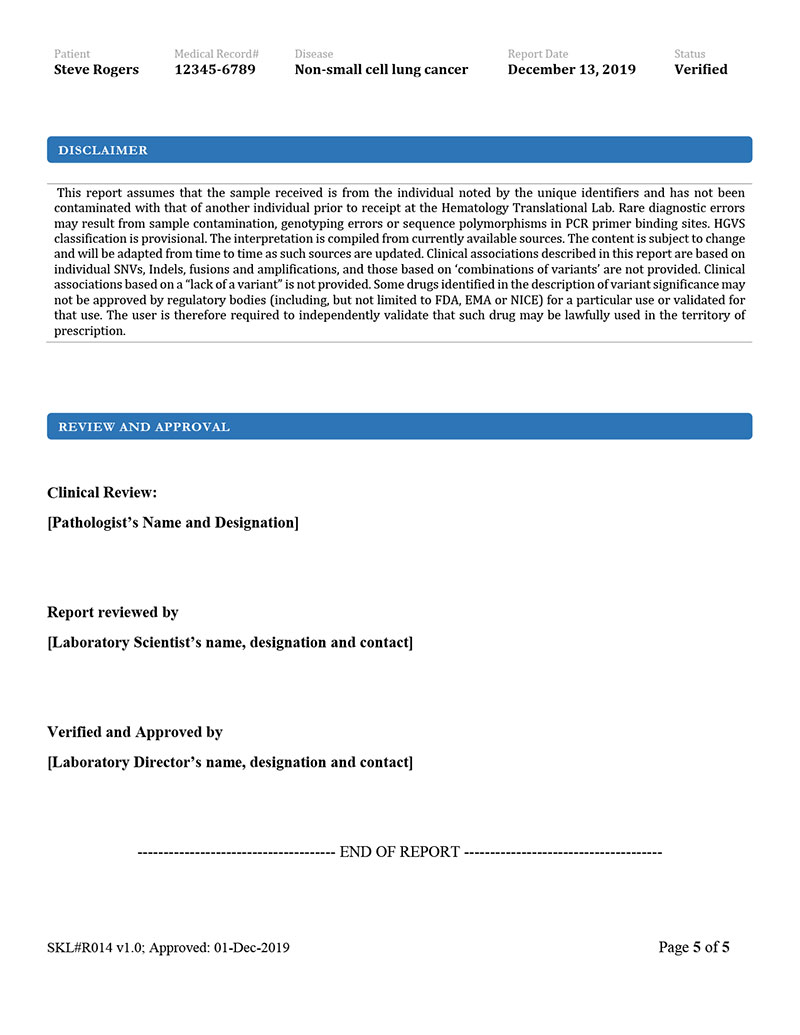 OncoHelix Report